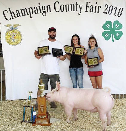 Victoria Ripley, Grand Champion Overall Market Barrow Open Class