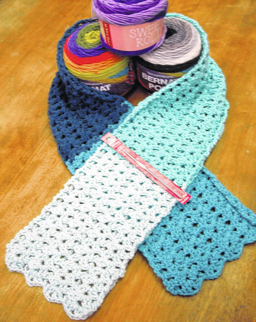 Novice crocheters are invited to classes at the Mechanicsburg Public Library. Seasoned crocheters are invited to work on their current projects during sessions.