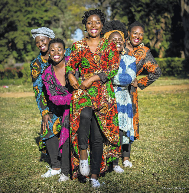 The a cappella group Nobuntu, five vocalists from Zimbabwe, will perform in Springfield on Oct. 12.
