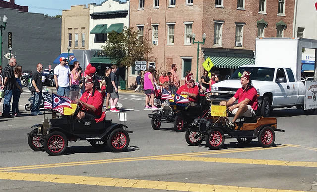 Regional Shriners are shown during the 2017 Hoopla Parade, a companion event to the Simon Kenton Chili Cook-off and Festival.