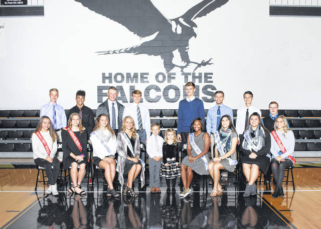 The 2018 Graham Homecoming Court has been announced. The 2017 king and queen, Zach Caudill and Rachel Kaiser, will crown the 2018 King and Queen during homecoming football pre-game festivities on Friday, Oct. 12 at 6:15 p.m. The Falcons host cross-county rival Urbana. The homecoming dance will be on Saturday, Oct. 13 from 8-11 p.m. at Graham Middle School. Pictured are (front row from left) Hailey Holloway, Lindsey Brayton, Sara Masters, Abbie Hennig, Cole Warner (Prince), Kaisley Bishop (Princess), Jau'more Wilson, Hailley Kendall, Suzy Borton and Kinady Waller; and (back row from left) Zachary Blosser, Jaesen Casey, Josh Lewis, Chase Adams, Matt Flora, Dillon Fagan, Ethan Gilliam and Colton Dunn.