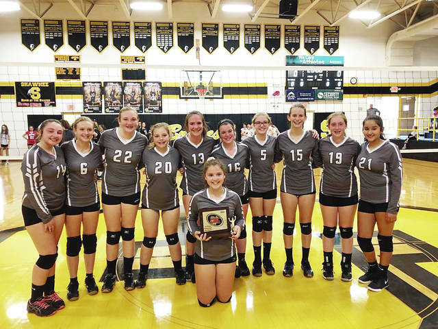 Graham's Middle School 7th grade volleyball team won the Central Buckeye Conference volleyball tournament. The team finished its season 18-0. The Falcons beat London 25-20 and 25-17 in the semi-championship match. The Falcons won the championship beating Ben Logan in 3 sets 25-20 25-27 and 25-22. Team members areAva Prince, Teagan Setty, Marissa Pine, Carissa Tourney, Whytney Faulkner, Shae Conrad, Ellie McDaniel, Sarah Lewis, Alondra Nunez, BrookLynn Rogers and Taylor Kizer.
