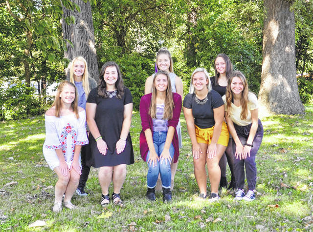 Pictured are, back row from left, juniors Sam Tracy, Tessa Armstrong, Alyssa Holland, front from left, seniors Marissa Horn, Mary Habodasz, Sam Zaborowski, Ally Pierce and Cierra Sturgell.