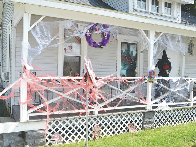 The owners of the apartment house at 215 N. Kenton St. in Urbana are ready for Halloween. Beggar's Night in Urbana is Wednesday, Oct. 31 from 6-8 p.m. Other municipalities have also set their dates and times for Beggar's Nights.