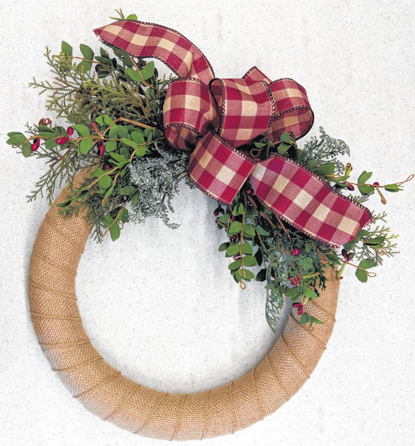 Register for an Oct. 27 workshop at the Mechanicsburg Public Library and create a Christmas wreath.