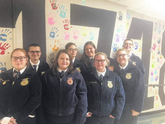 Pictured are the Food Science teams: back from left, Zack Collins, McKinley Preece, Ashlyn Dunn, Payton Stambaugh, front from left, Jess Salyers, Lacy Ratcliff, McKayla Mills and Taylor Cordial.