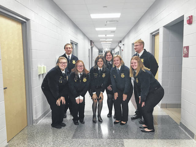 Shown are, back from left, Justin Preece, Ashlyn Dunn, Nick Crumley, front from left, Taylor Cordial, Jess Salyers, Mallary Caudill, Ally Pierce and Peyton Tener.