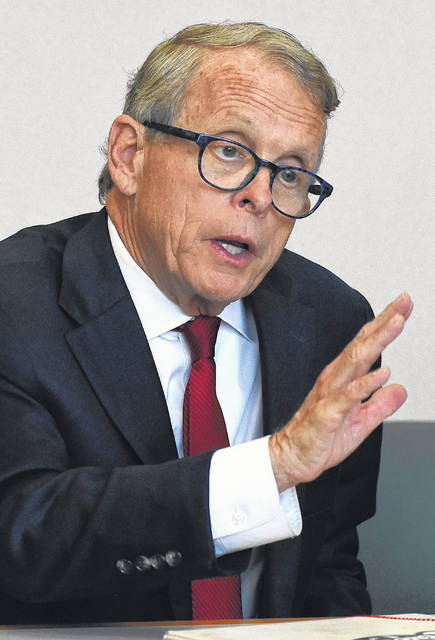 Ohio Attorney General Mike DeWine, the Republican candidate for governor, attended a recent Lima News editorial board meeting. Craig J. Orosz | The Lima News