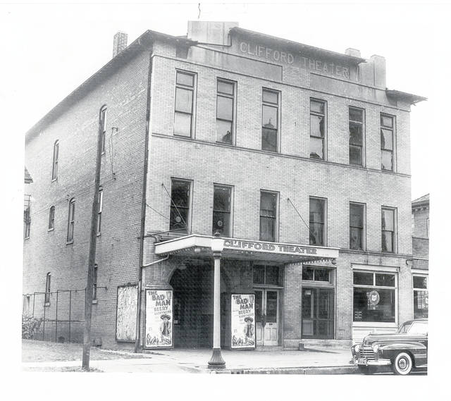 Then – This is a circa 1941 photo of the Clifford Theater at 216 S. Main St., Urbana.