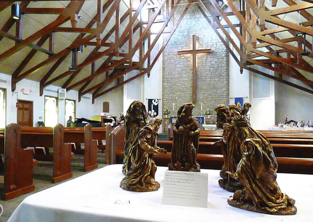 A nativity set is pictured in the sanctuary of Messiah Lutheran Church during a previous year's No Room at the Inn event. This year's fundraiser will be held this Sunday.