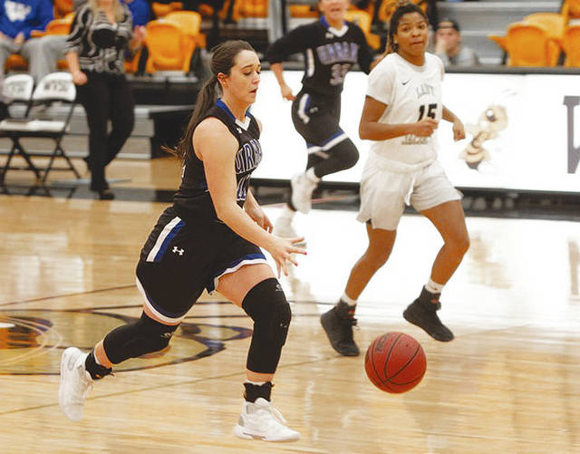 UU's Nikki Current (pictured) had 13 points in Wednesday's loss to Maryville.