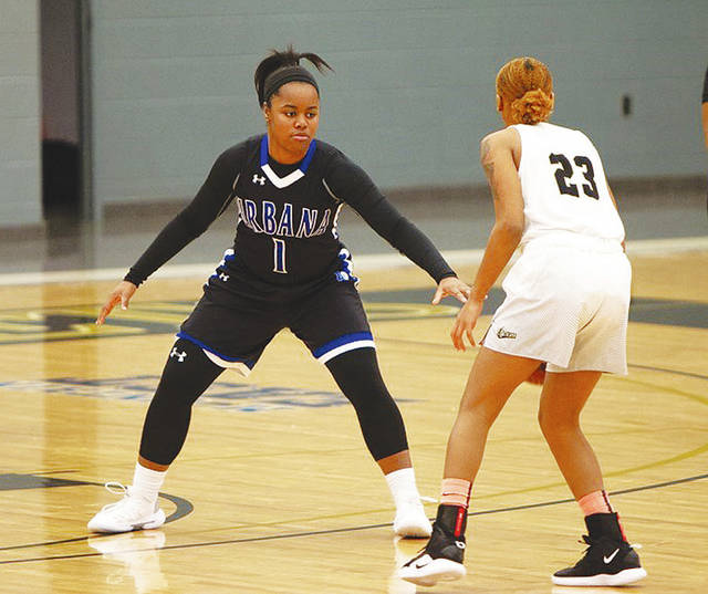 UU's Jada Love (1) scored six points in Tuesday's loss to Angelo State.