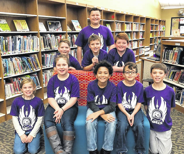 Graham Elementary's LEGO team includes, 1st row, Kady Thornton, Karidy Thomas, JR Turner, Xander Diaz, Jack Seeberg, 2nd row, Bear Korte, Sully Uhl, Jack Traylor and, 3rd row, Carsen Little.