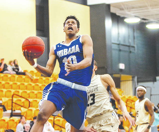UU's Zach Bates (pictured) had 4 points, 3 assists and 3 rebounds in Saturday's loss at Shepherd.