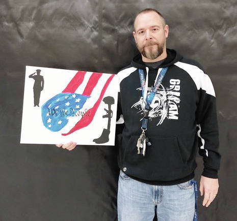 Chad Miller's art was inspired by patriotism and appreciation for the U.S. military.