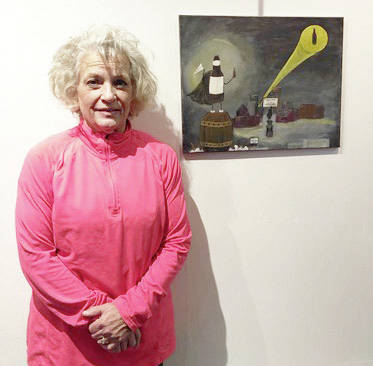 Vicki J. Deere Bunnell of Security National Bank is affiliated with the Monument Square District. Her artwork features the Gloria.