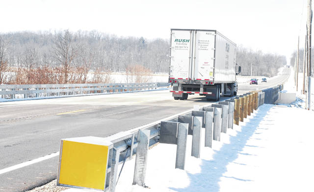 Maintenance on roads and bridges, like this recently-improved bridge on U.S. Route 36 near Zimmerman Road in western Champaign County, would benefit from increased state gasoline taxes.