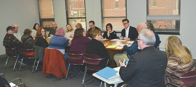 The first meeting of the 2019 Charter Review Committee included (from left counterclockwise) Craig Evans, Audra Bean, Earl Evans (who was on two previous charter review committees), Brandon Shockey, Lydia Hess, Michelle Heflin, Charles Moody, Addie King, Kim Gordon-Brooks, Al Evans, Stephanie Truelove, Justin Weller, Cassie Cress, Patrick Trenor, Amy Paul and Carrie Thomas.