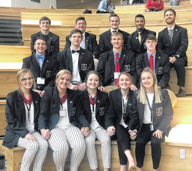 Pictured are: first row from left, Paige Martinez, Ally Pierce, Tessa Armstrong, Jennah Adams, Katie Harris; second row from left, Brandon Ebert, Grant Hower, Reid Taylor, Jacob Upchurch; third row from left, Gabe Johnson, Troy Brown, Nick Agerter, Christian Walton and Advisor Thomas Russell.