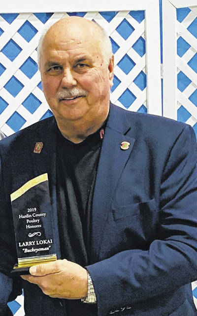 Larry Lokai was honored at the Hardin County Poultry Awards Banquet.