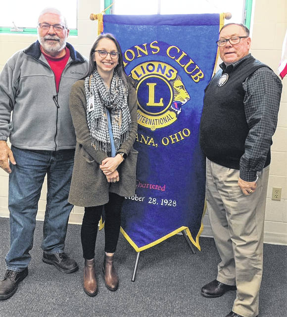 At a recent Urbana Lions Club Meeting, Lion Steve Moore, left, sponsored the speaker - Anna Jean Petroff, Champaign Health District epidemiologist. She spoke about how to protect oneself from hepatitis A. Pictured (at right) with Petroff and Moore is Urbana Mayor Bill Bean, who is the Lions' vice president.