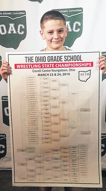 Logan Souders (pictured) won an OAC state wrestling championship on March 24. It was Logan's second state championship this month.