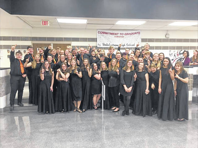 "The West Liberty-Salem Band earned a ""Superior"" rating at the District 11 Ohio Music Education Association's Large Group Band Contest at Bellefontaine High School. The band is directed by Stephen Fannin."