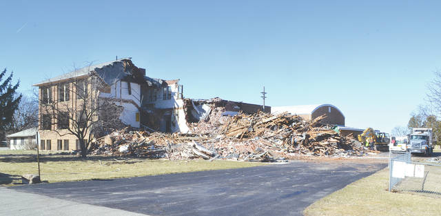 Urbana Local Intermediate School was demolished on Tuesday. The building was no longer needed by the Urbana City Schools district after new schools were constructed and opened last year. Urbana's East Elementary School was also demolished after the new schools opened.