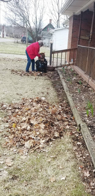 Imo Sells, age 86 of Urbana, and her grandchildren got an early start on spring garden cleanup over the weekend. Sells' grandchildren snapped this photo of her in action and sent it to the newspaper.