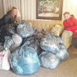 Bags become mats for homeless