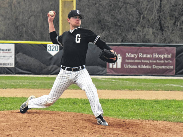Graham's Brady Anderson (pictured) hurled a no-hitter against Urbana on Wednesday - walking six and allowing two runs while striking out 12.