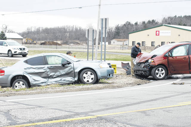 This crash near the intersection of Ludlow Road and U.S. Route 36 injured 3 people early Friday afternoon.
