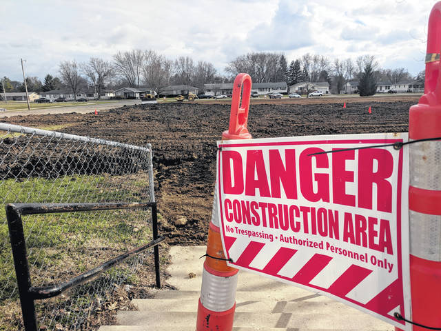 Urbana's East Elementary school is completely gone, as crews work to fill in and grade the now vacant land. The track will be maintained for community use, with the marching band using the remaining green space for practice.