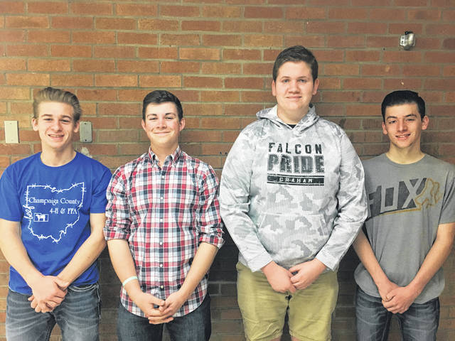 The Graham/Hi-Point FFA team finished 4th in the state and consisted of Kenny Stahler, Sam Stickley, Bryant Crisler and Tyler Purk.