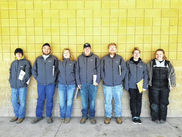 The General Livestock team includes, from left, Connor Trawick, Justin Preece, Janie Wallace, Conor Thomas, Nick Crumley, Ashley Gemienhardt and Peyton Tener.