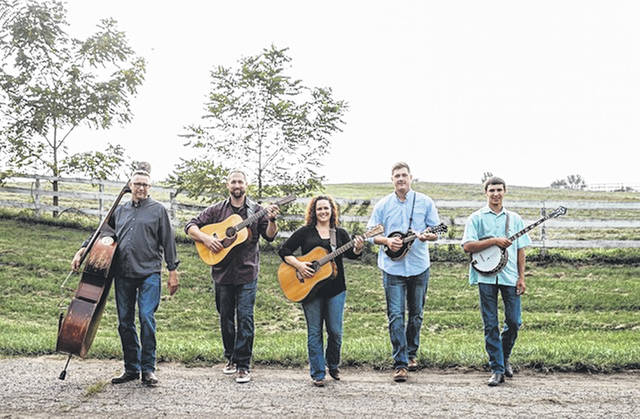 The Kauffman Road Bluegrass Band will perform at the 1858 Meeting House in Mechanicsburg on Saturday.