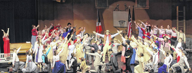 "Graham High School's spring musical ""The Music Man"" continues today and Sunday in the Graham Middle School auditeria. Today's performance is at 7 p.m. and Sunday's is at 2 p.m. Tickets are $10 each. This photo was taken during a dress rehearsal."
