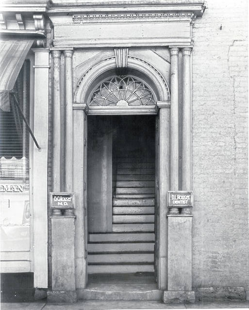 Then - South Main Street upstairs entrance to the Carmazzi Building.