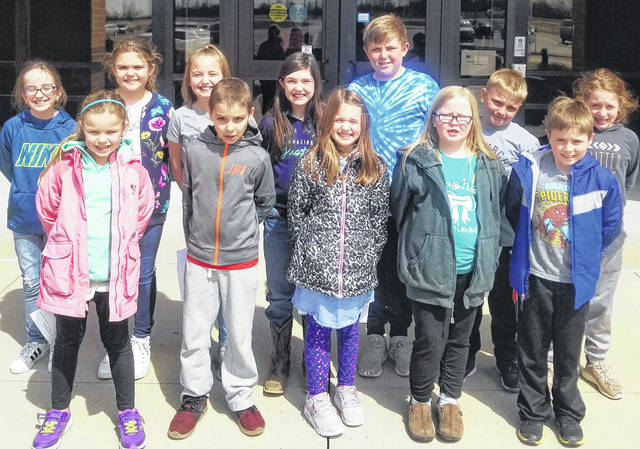 Graham Elementary's Lighthouse Team includes, front from left, Hattie Uhl, Andy Lorenz, Reese Maurice, Melodie Moore, Daniel Spence, back from left, Maci Sadler, Bailey Britton, Lilah Turner, Avery Wolf, Case Teepe, Ryley Savage and Addison Wallen.