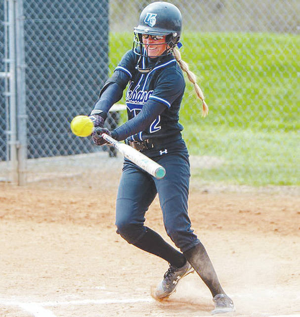 Urbana University's Jenna VanHoose (pictured) had 3 hits in Tuesday's softball doubleheader loss to visiting Charleston.