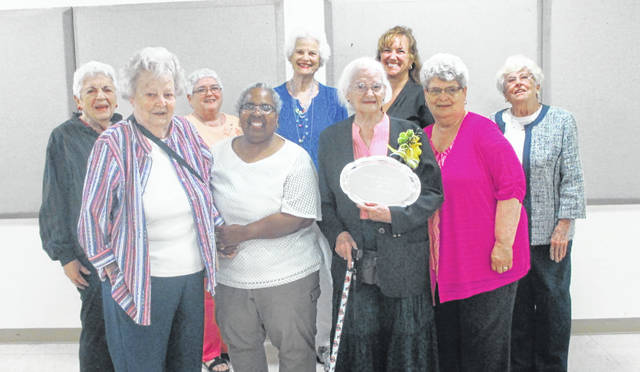 Shown are, front row, Ann Bogard, Ce Greene, Anajean Owen, Mary Beedy, back row, Mary Pauline Blazer, Elaine Riley, Kay Miller, Ellen Spinner and Jean Rutan.