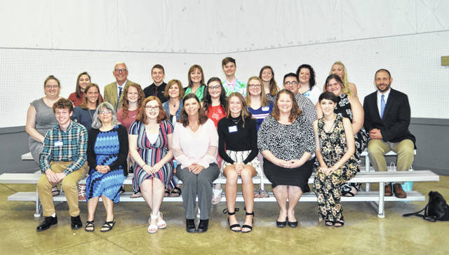 Shown are, front row, Michael Trudo, Kathy Zaborowski, Cierra Long, Leigh Ann Simpson, Zhoe Evans, Amy Padilla, Sutton Stouffer, second row, Ellen Westerman, Cady Perry, Marissa Horn, Cassie Cress, Mary Habodasz, Kourtney Petry, Jesse Edwards, Ashlyn Dunn, Steve Wilhelm, back row, Mariama Artis, Mike Mays, Brandon Ebert, Katie deNijs, Ian deNijs, Kara Johnson, Laura Ridge and Katie Harris.