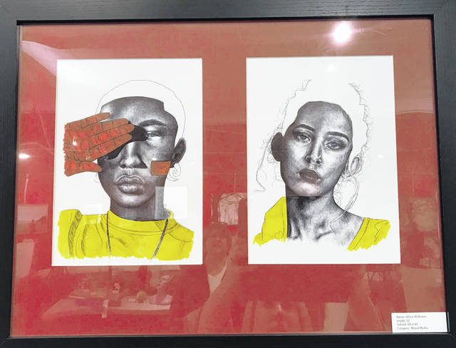 Olivia Williams, a West Liberty-Salem senior, won the 4th Congressional District art competition with the mixed media piece shown here. WL-S student Courtney Neer placed third with a photo. The 2019 Congressional Art Competition was open to all high school students residing in Ohio's Fourth Congressional District. Each high school in the Fourth District could select two winners to compete in the district-wide contest. Williams' artwork will be displayed at the U.S. Capitol for one year along with the district winners from across the United States.