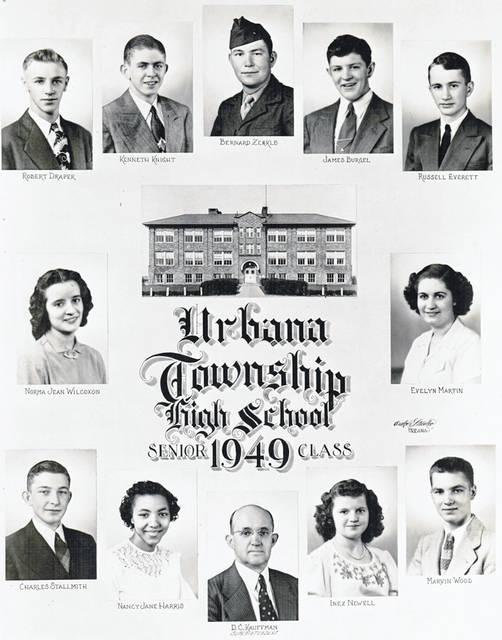 The class of 1949 included James Burgel Jr., Robert Draper, Russell Everett, Nancy Harris Robotham, Kenneth Knight, Evelyn Martin Reeser, Inez Newell Stinson, Charles Stallsmith, Norma Jean Wilcoxin Smith, Marvin Wood and Bernard Zirkle.