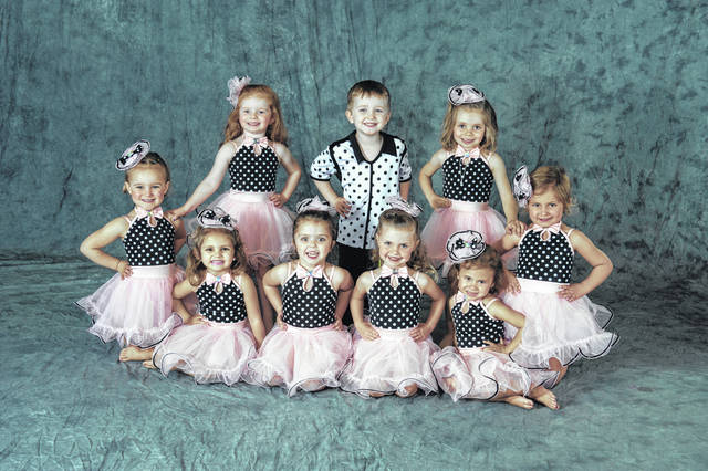 """The Studio for Cheer, Dance & Tumbling will present """"Dancing Through the Decades,"""" this year's spring recital, at Graham Middle School at 7 p.m. May 31 and June 1. Tickets will be available at the door. The Preschool Tumbling Class includes, row 1, Becca Kane, Evelyn Money, Charlotte Hiltibran, Veronica Raines, Hadley DeWitt, Nora Long, row 2, Paetyn Price, Emmett Cantrell and Elli Sanderson."""