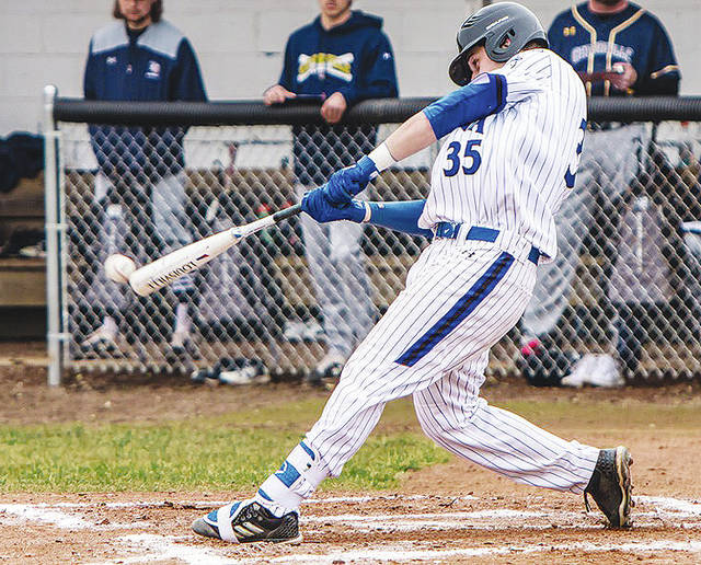 Urbana University's Tyler Dellerman (pictured) was tabbed as the MEC Freshman of the Year in baseball.