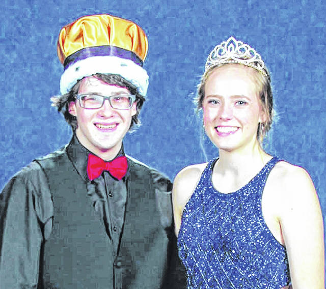 Hunter Smith and Kaylee Harrison, above, reigned over the West Liberty-Salem prom on May 4 at Urbana Country Club. Other royals were Prince Michael Farquharson and Princess Savannah Weaver.