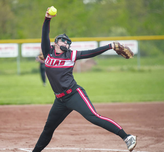 Triad's Joni Russell (pictured) struck out nine in Saturday's 4-1 loss to Felicity-Franklin in a Division IV district softball final.