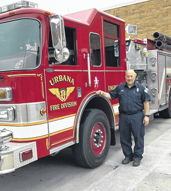 Firefighter Dean Edwards is retiring from the Urbana Fire Division on June 5.