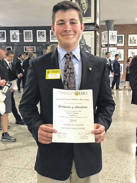 Graham High School student Sam Stickley served as the Buckeye Boys State director of agriculture at the American Legion's annual Boys State event.